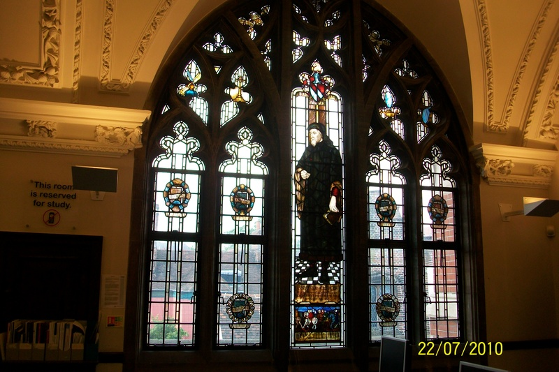 Geoffrey Chaucer window, Ipswich Library