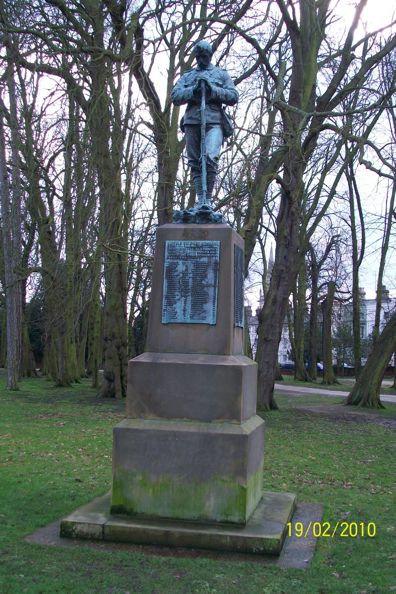 Suffolk Soldiers Memorial, Christchurch Park