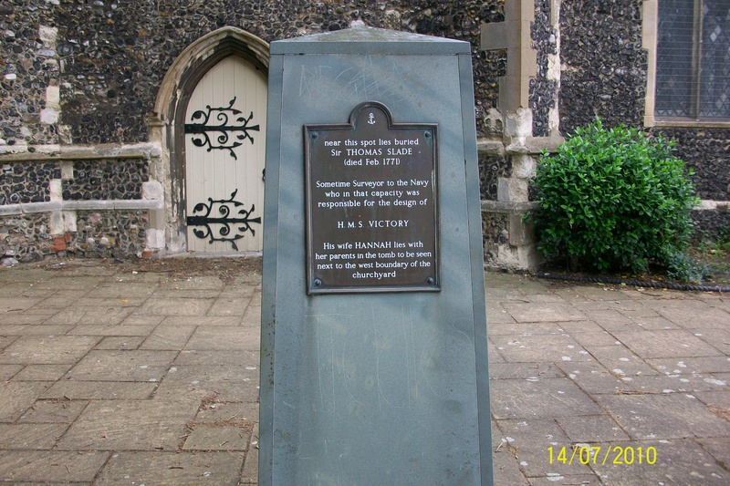 Sir Thomas Slade Memorial, St. Clement's Churchyard